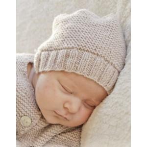In my dreams by DROPS Design - Baby Mössa Stick-mönster strl. Prematur - 3/4 år