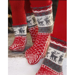 Christmas Stampede by DROPS Design - Sockor Stick-opskrift str. 26/28 - 41/43