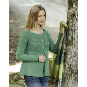 Green Echo Jacket by DROPS Design - Stickmönster jacka str. S - XXXL