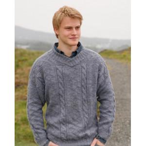 Sir Lancelot by DROPS Design - Sweater Stick-opskrift str. S - XXXL