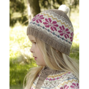 Prairie Fairy Hat by DROPS Design - Mössa Stick-opskrift strl. 3/5 - 9/12 år