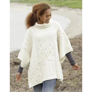 Comfort Chronicles by DROPS Design - Poncho Stick-mönster One-size