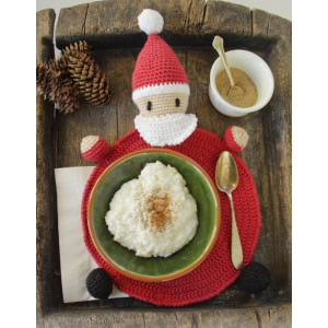 Brunch with Santa by DROPS Design - Bordstablett Virk-mönster 22 cm