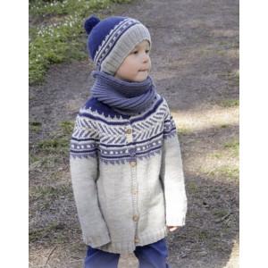 Little Adventure Jacket by DROPS Design - Jacka Stick-opskrift strl. 3/4 - 11/12 år