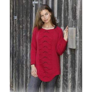 Red Tulip by DROPS Design - Blus stickmönster str. S - XXXL