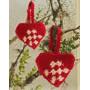 Heart Basket by DROPS Design - Julkorg Virk-mönster 10 cm - 2 st.