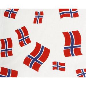 Køb Bomullstyg med den Norska Flaggan 145cm – 50cm