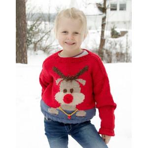 Red Nose Jumper Kids by DROPS Design - Jumper Stickmönster str. 2-12 år