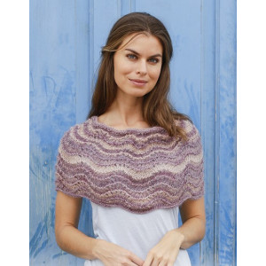 Summer Sandby DROPS Design - Poncho Stickmönster One-size