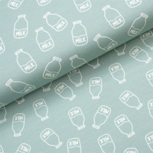 Køb Bomullsjersey Print Tyg 150cm 032 Mjölk – 50cm