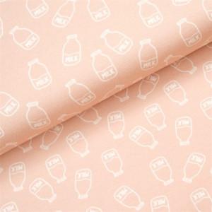 Køb Bomullsjersey Print Tyg 150cm 024 Mjölk – 50cm