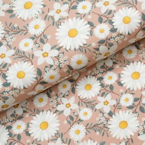 Køb Bomullsjersey Print Tyg 150cm 024 Prästkragar – 50cm
