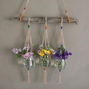 DIY Hanging Pots av Rito Krea - Hängvaser Knytmönster
