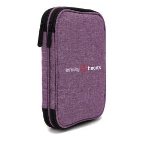 Køb Infinity Hearts Etui till Rundstickor & Tillbehör Lila 22x17x4cm
