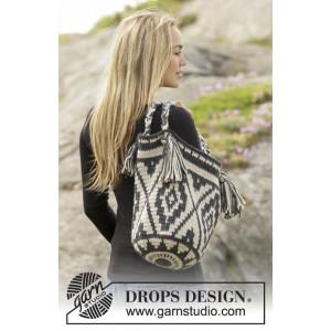 Santa Fe by DROPS Design - Väska Virk-opskrift 67x34 cm
