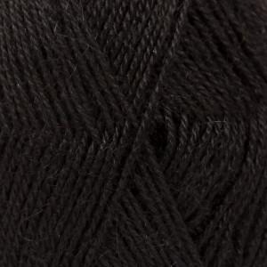 Drops Alpaca Garn Unicolor 8903 Svart