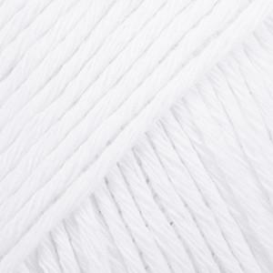 Drops Cotton Light Garn Unicolor 02 Vit