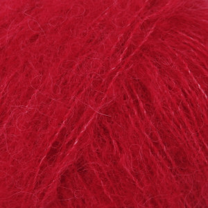 Drops Brushed Alpaca Silk Garn Unicolor 07 Röd