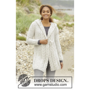 Melody of Snow by DROPS Design - Jacka Stick-opskrift strl. XS/S - XXXL