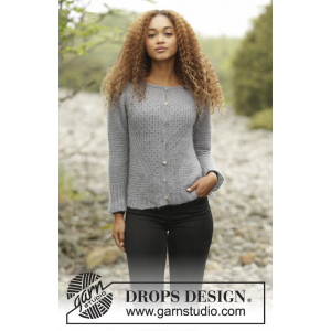 Misty Harbor Cardigan by DROPS Design - Jacka Stick-opskrift strl. S - XXXL