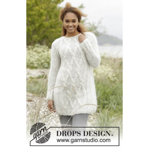 Diamond Bliss by DROPS Design - Tröja Stick-opskrift strl. XS/S - XXXL