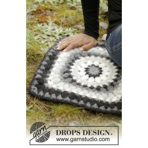 Slate Rose by DROPS Design - Sittunderlag Virk-opskrift 36x36 cm