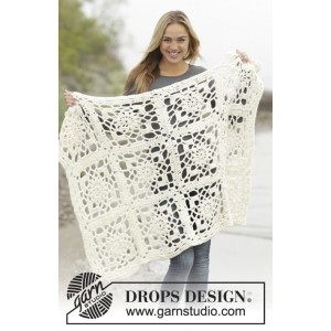 Winter Crystal by DROPS Design - Filt Virk-mönster 80/104-104/128 cm