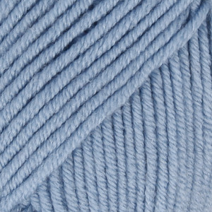Drops Merino Extra Fine Garn Unicolor 19 Ljusblå