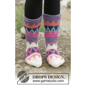 Colorful Winter by DROPS Design - Sockor Virk-opskrift strl. 35/37 - 41/43