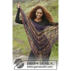 Loren by DROPS Design - Sjal Virk-kit 154x72 - 172x80 cm