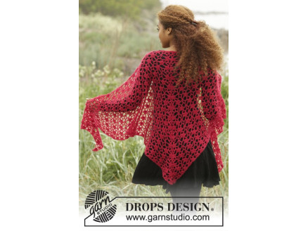 amazon storlek 40 beställa online Carmen by DROPS Design - Sjal Virk-mönster 216x75 cm - Rito.se