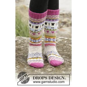Sleepy Sheep by DROPS Design - Sockor Stick-opskrift strl. 35/37 - 44/46