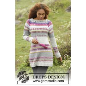 Highland Heather by DROPS Design - Klänning Stick-opskrift strl. S - XXXL