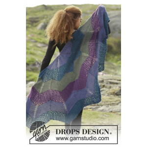 Aurora Borealis by DROPS Design - Sjal Stick-mönster 148x74 cm