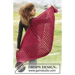 Autumn Fire by DROPS Design - Sjal Stick-mönster 150x75 cm