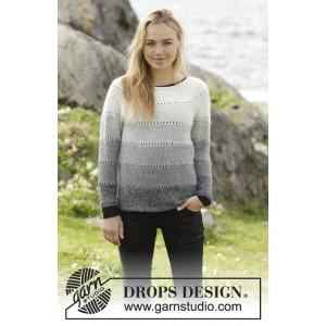 Shades of Grey by DROPS Design - Blus stickmönster str. S - XXXL