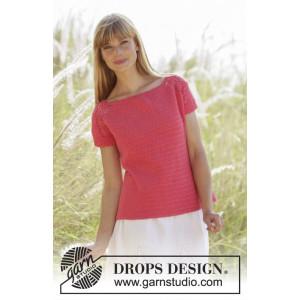 Warm Apricot by DROPS Design - Topp Virk-opskrift strl. S - XXXL