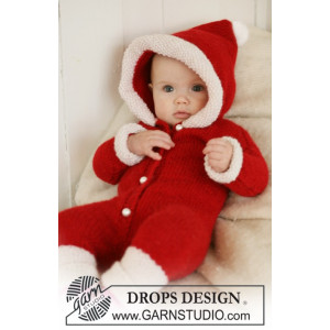 My First Christmas by DROPS Design - Baby Juldräkt Stick-mönster str. 1/3 mdr - 3/4 år