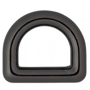 Køb Infinity Hearts D-Ring Mässing Gunmetal 12x12mm – 5 st