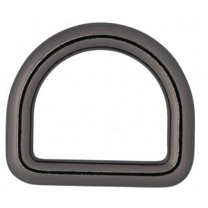Køb Infinity Hearts D-Ring Mässing Gunmetal 25x25mm – 5 st