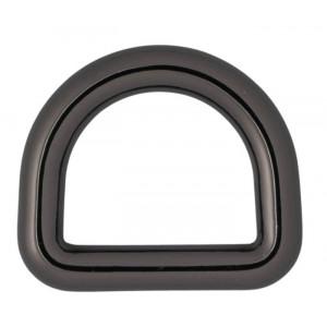 Køb Infinity Hearts D-Ring Mässing Gunmetal 16x16mm – 5 st