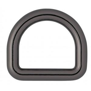 Køb Infinity Hearts D-Ring Mässing Gunmetal 19x19mm – 5 st