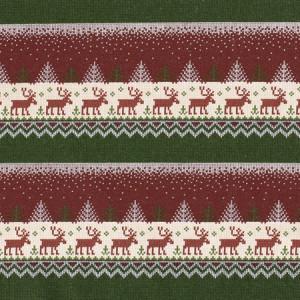 Køb Jul French Terry Tyg  150cm 18 Renar – 50 cm