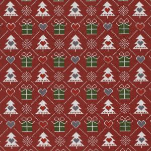 Køb Jul French Terry Tyg  150cm 18 Julgranar – 50 cm