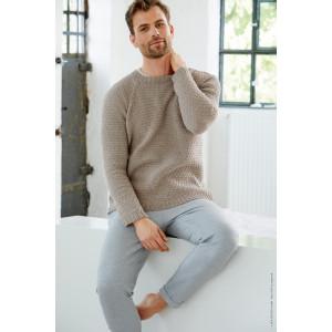 Cool Wool Mélange Herrpullover av Lana Grossa - Herrpullover med Raglan Stickmönster Str. 48/50-56/58