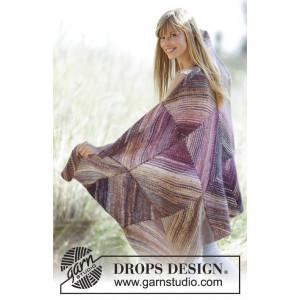 Purple Love by DROPS Design - Filt Stick-opskrift 150x90 cm