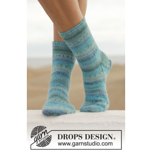 Blue Notes by DROPS Design - Sockor Stick-opskrift str. 35/37 - 41/43