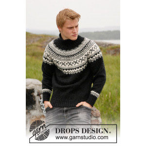 Neville by DROPS Design - Sweater Stick-opskrift str. S - XXXL