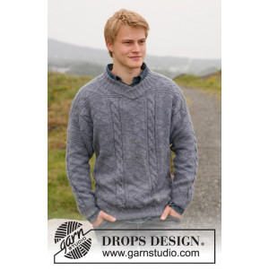 Sir Lancelot by DROPS Design - Sweater Stick-opskrift str. S - XXXL