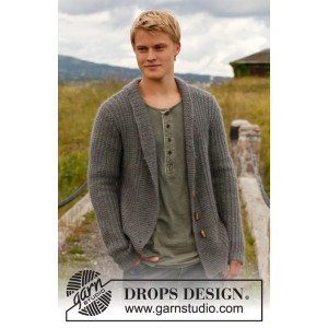 Lewis by DROPS Design - Jacka Stick-opskrift str. S - XXXL
